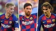 Frenkie de Jong, Lionel Messi, Antoine Griezmann