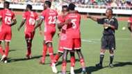 Simba SC players celebrate.