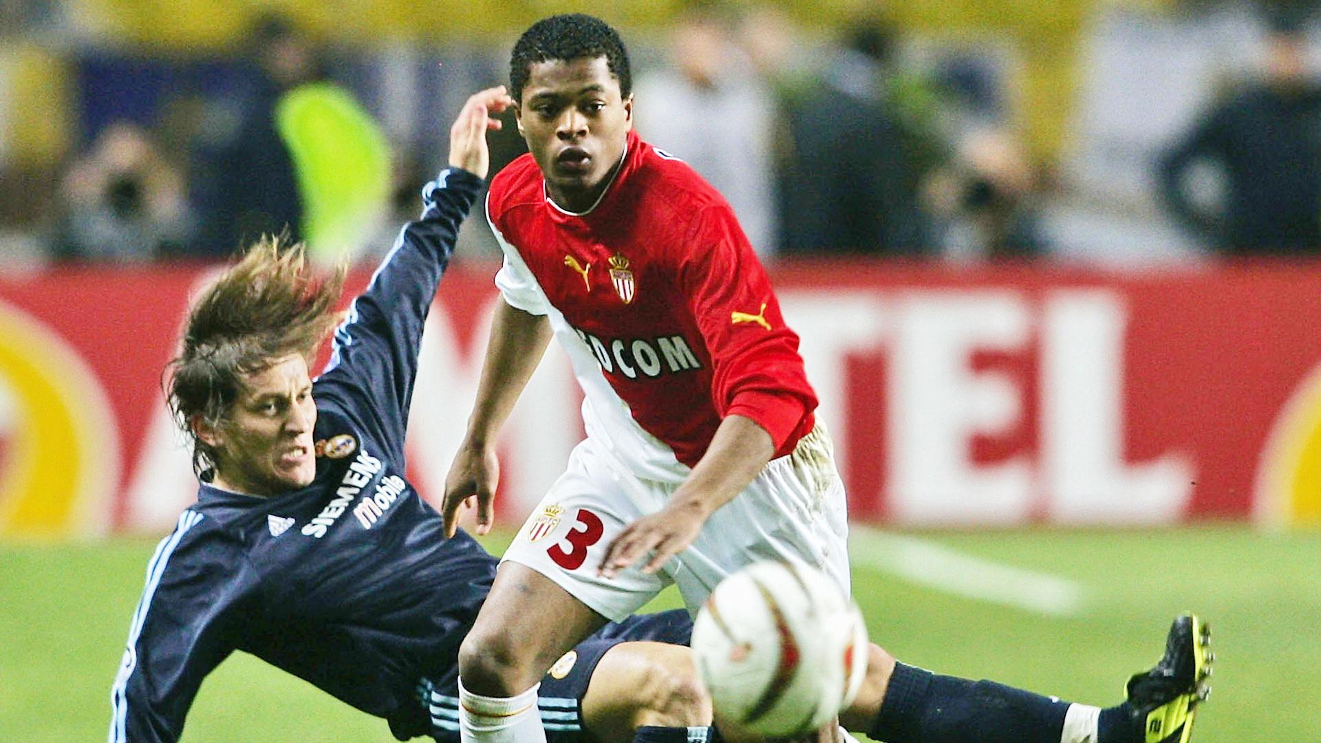 Patrice Evra Monaco Michel Salgado Real Madrid Champions League