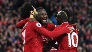 Naby Keita Mohamed Salah Sadio Mane Liverpool