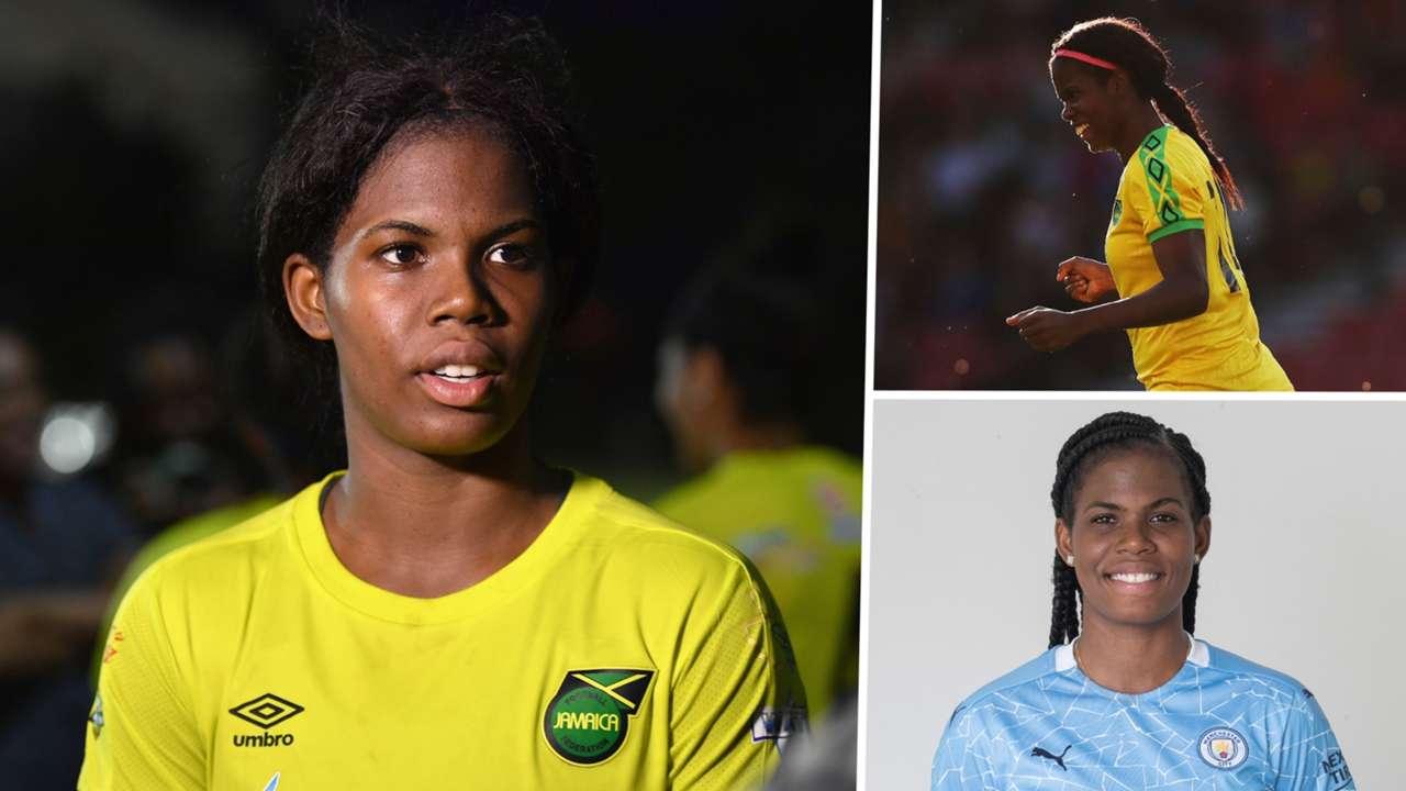 Khadija Shaw Jamaica Manchester City Women split