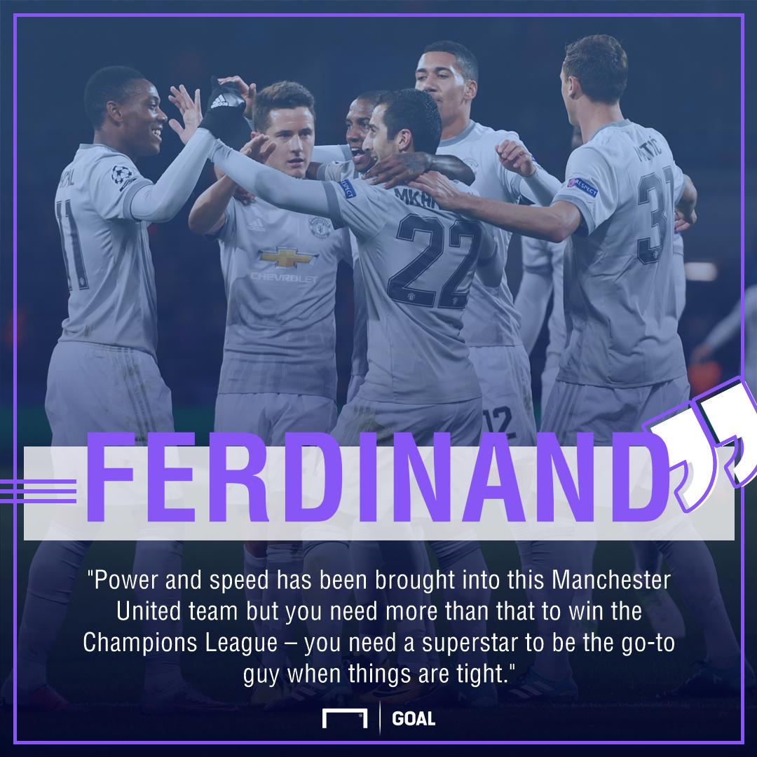 Rio Ferdinand Manchester United Champions League superstar