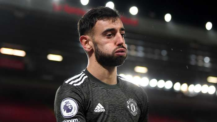 Bruno Fernandes Liverpool vs Man Utd Premier League 2020-21
