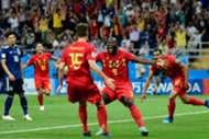 Thomas Meunier Romelu Lukaku Nacer Chadli Belgium Japan Goal Celebration World Cup 07/02/18