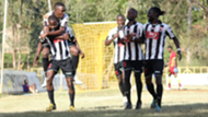 Jeremiah Wanjala leads his teammates of Ushuru FC.