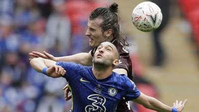 Caglar Soyuncu Hakim Ziyech Leicester Chelsea 2020-21