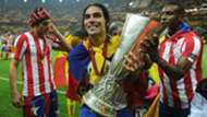 Radamel Falcao Atletico Madrid UEFA Europa League trophy