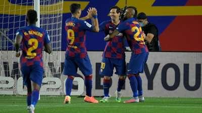 Barcelona Leganés Messi Suarez Vidal
