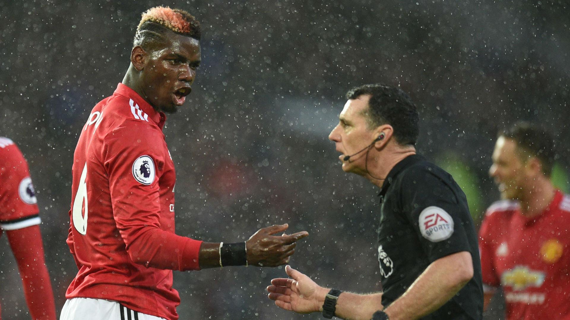 Paul Pogba Manchester United Mark Swarbrick referee