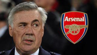 Carlo Ancelotti, Arsenal logo