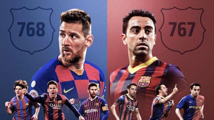 Messi Xavi