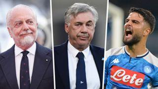 De Laurentiis Ancelotti Insigne Napoli