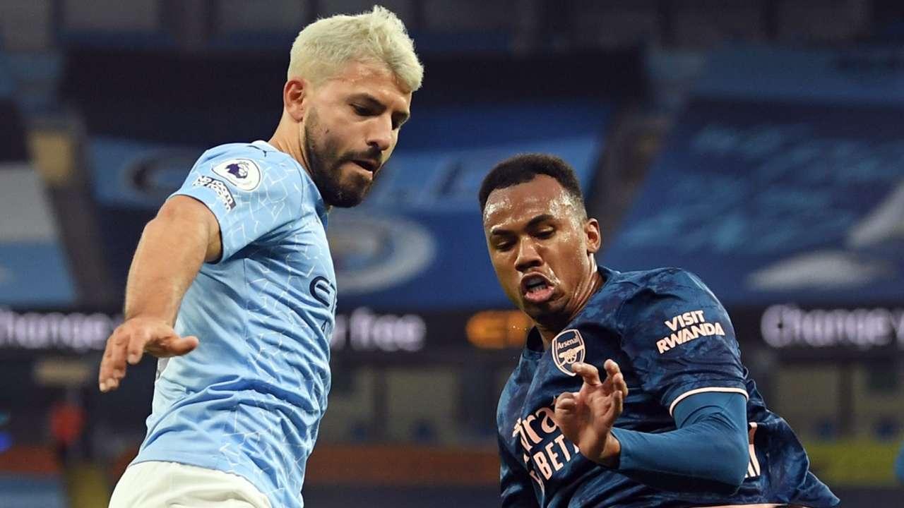 Sergio Aguero Gabriel Magalhaes Manchester City Arsenal 2020-21