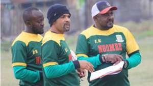 Francis Kimanzi and Salim Ali of Mathare United.