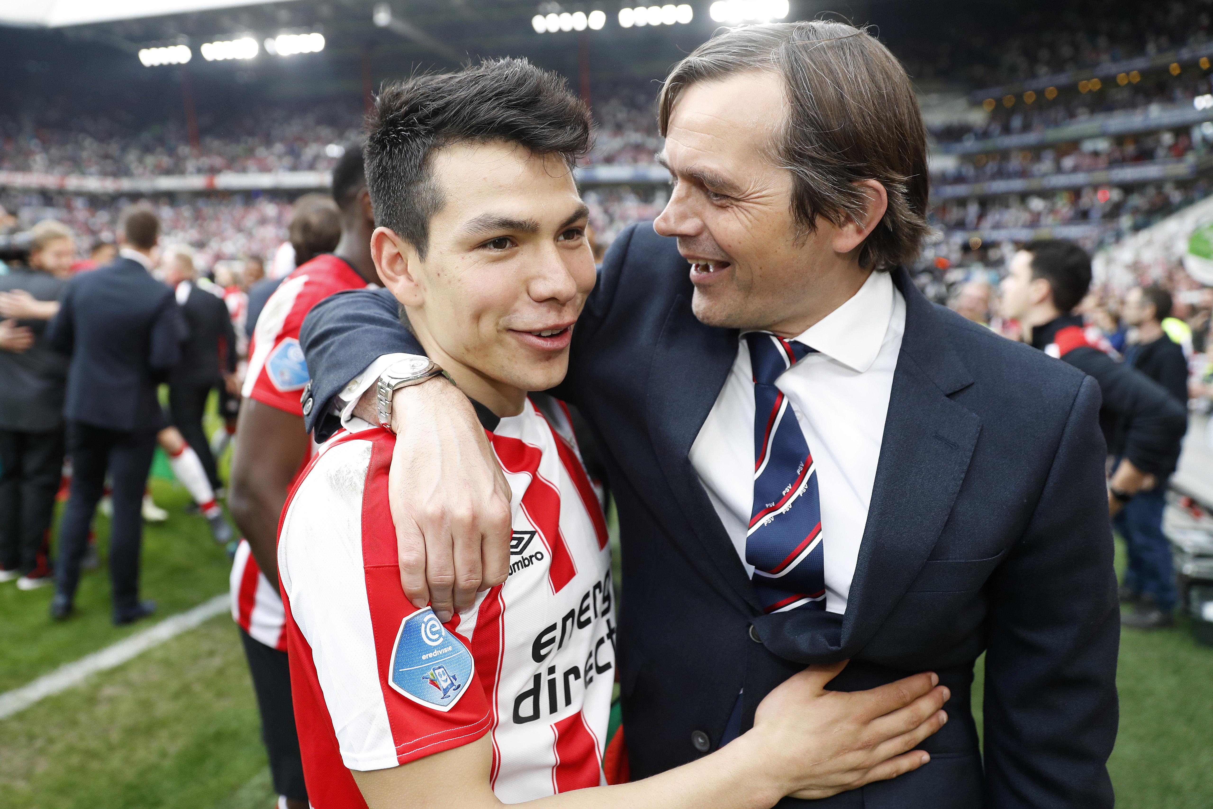 Hirving Lozano Phillip Cocu PSV