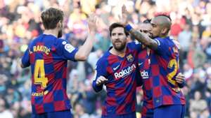 Barcelona celebrate vs Eibar 2019-20