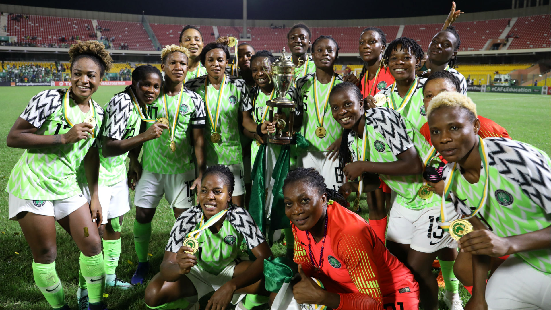 Watch as Caf relives Nigeria's ninth Africa Women's Cup of Nations triumph