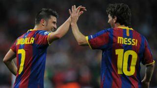 Lionel Messi David Villa Barcelona