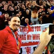 Zlatan Ibrahimovic at Europa League final