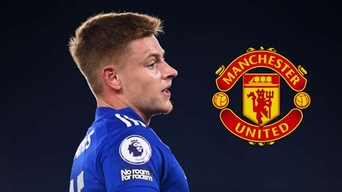 Harvey Barnes Leicester Manchester United 2020-21