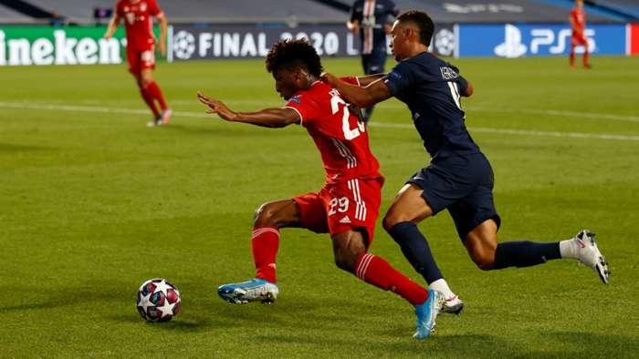 Kingsley Coman Thilo Kehrer PSG vs Bayern Munich Champions League 2019-20
