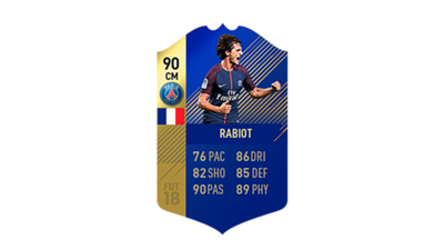 FIFA 18 Ligue 1 Team of the Season Rabiot