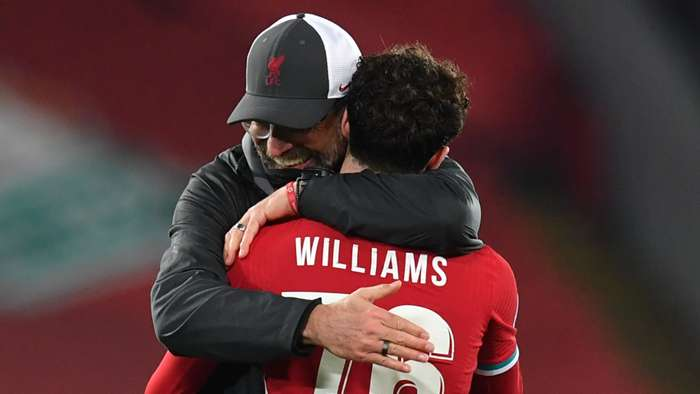 Jurgen Klopp Neco Williams Liverpool 2020-21