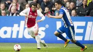 Amin Younes, Stefano Marzo, Ajax - sc Heerenveen, Eredivisie, 04162017