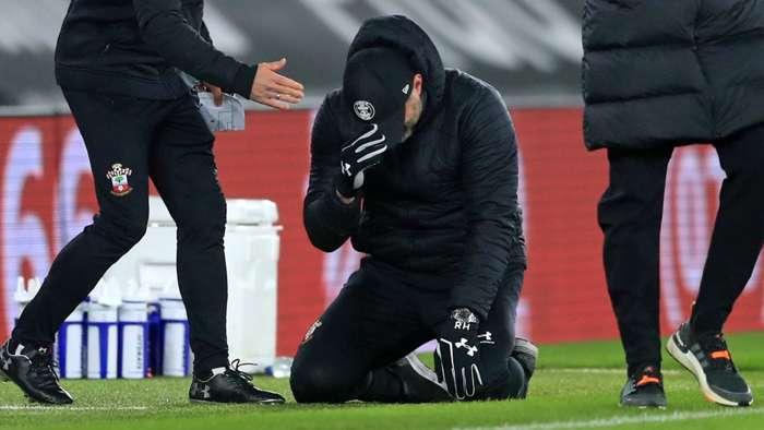 Hasenhuttl Southampton Liverpool tears
