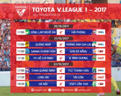 vòng 22 V.League