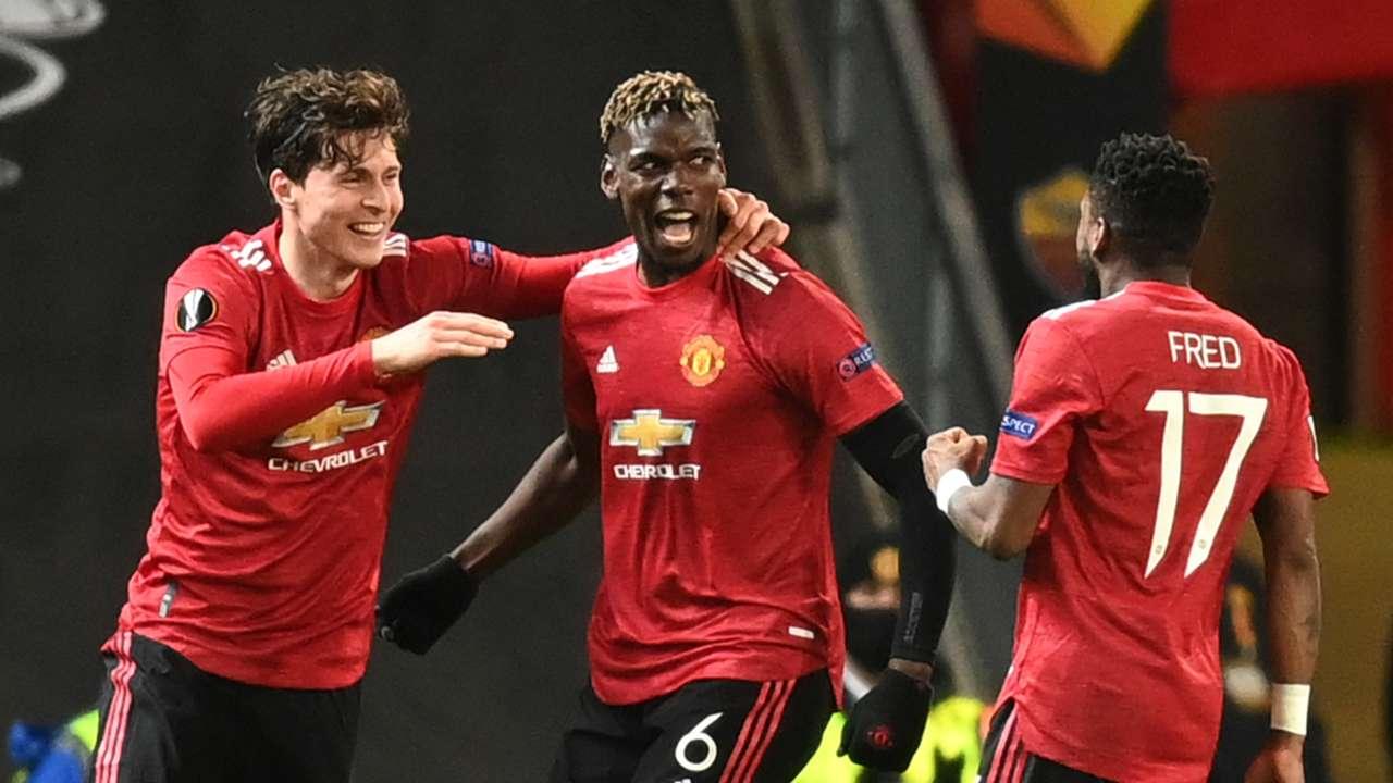 CNR: Pogba celebrating Manchester United Roma Europa League
