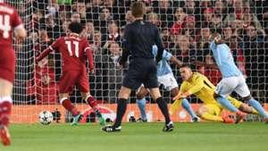 Salah Ederson Liverpool Man City 04042018 Champions League QF
