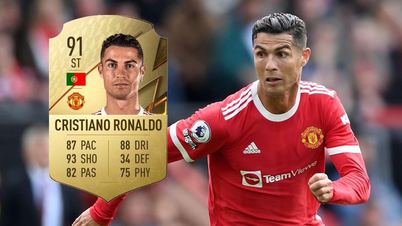 Cristiano Ronaldo, Man Utd FIFA 22 ratings