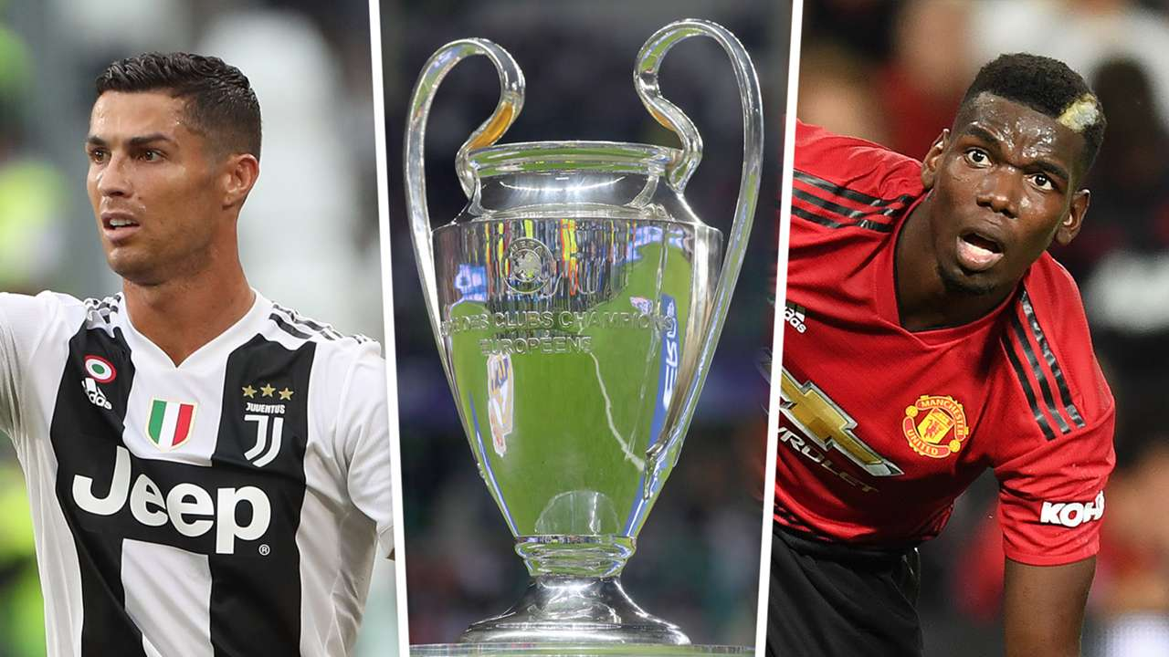 Cristiano Ronaldo Paul Pogba Champions League trophy