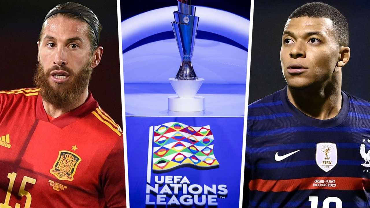 Sergio Ramos Spain Nations League Kylian Mbappe France 2020