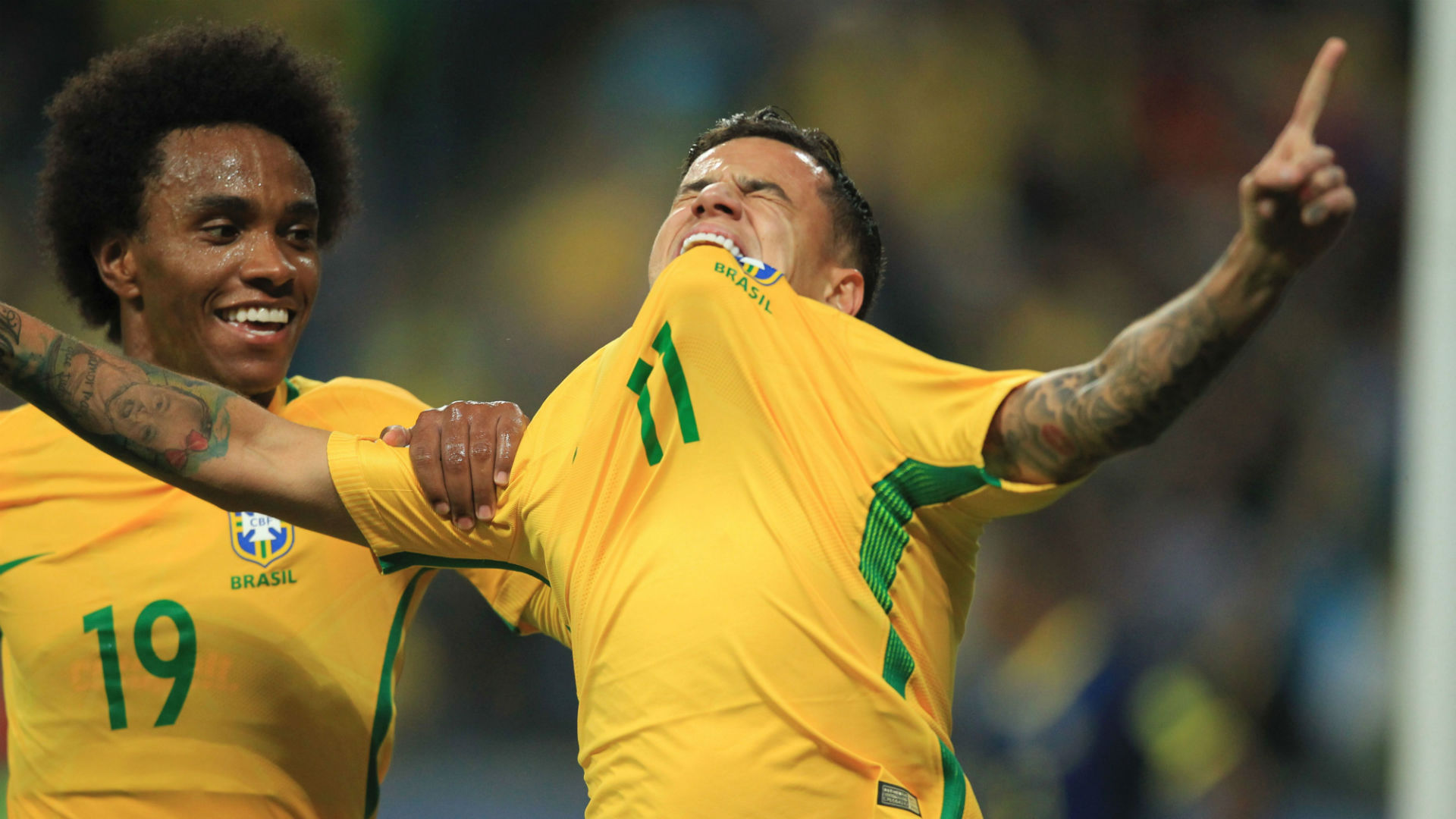 Philippe Coutinho Willian Brazil World Cup qualifying