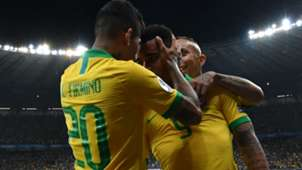 Firmino Gabriel Jesus Brasil Argentina Copa América 03 07 2019