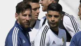 Lionel Messi Ever Banega Argentina 2018