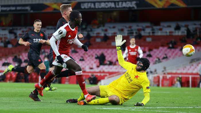 Nicolas Pepe Arsenal Slavia Europa League 2020-21