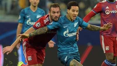 Sebastian Driussi Lucas Tousart Zenit Lyon UEFA Champions League 27112019