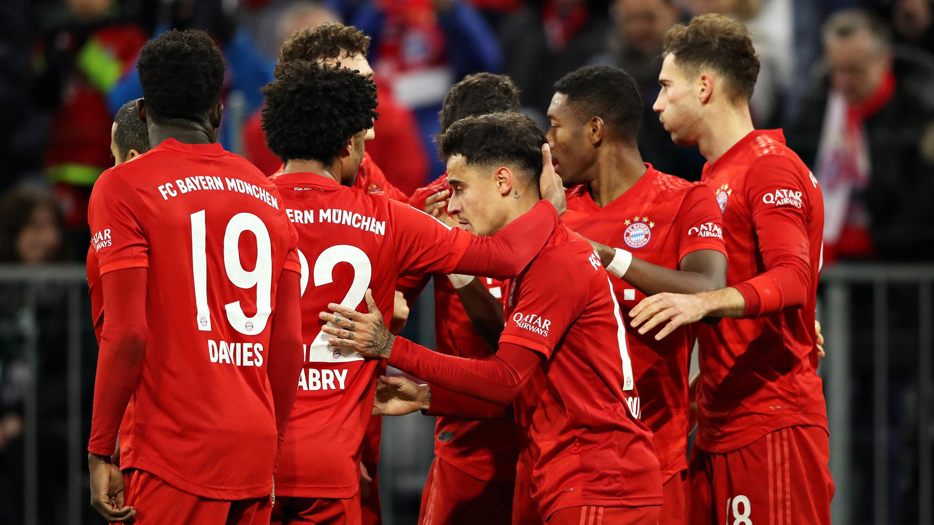 Philippe Coutinho Bayern Celebrating 2019