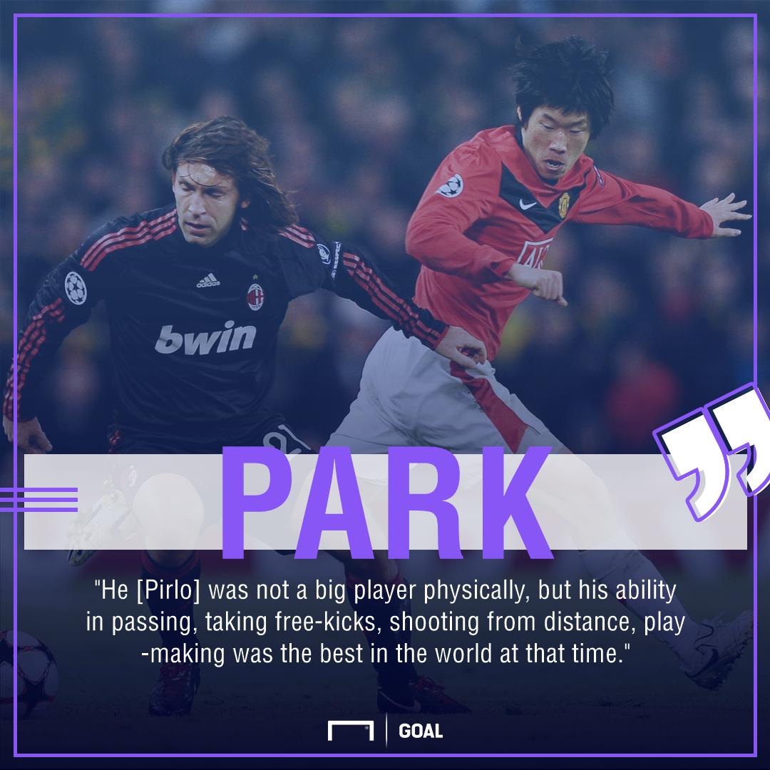 Park Ji-sung Andrea Pirlo Manchester United AC Milan 2010
