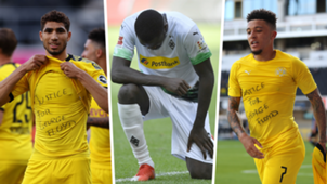 achraf hakimi marcus thuram jadon sancho bundesliga protests