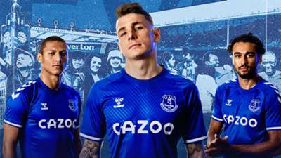 Everton 2020-21 home kit Hummel