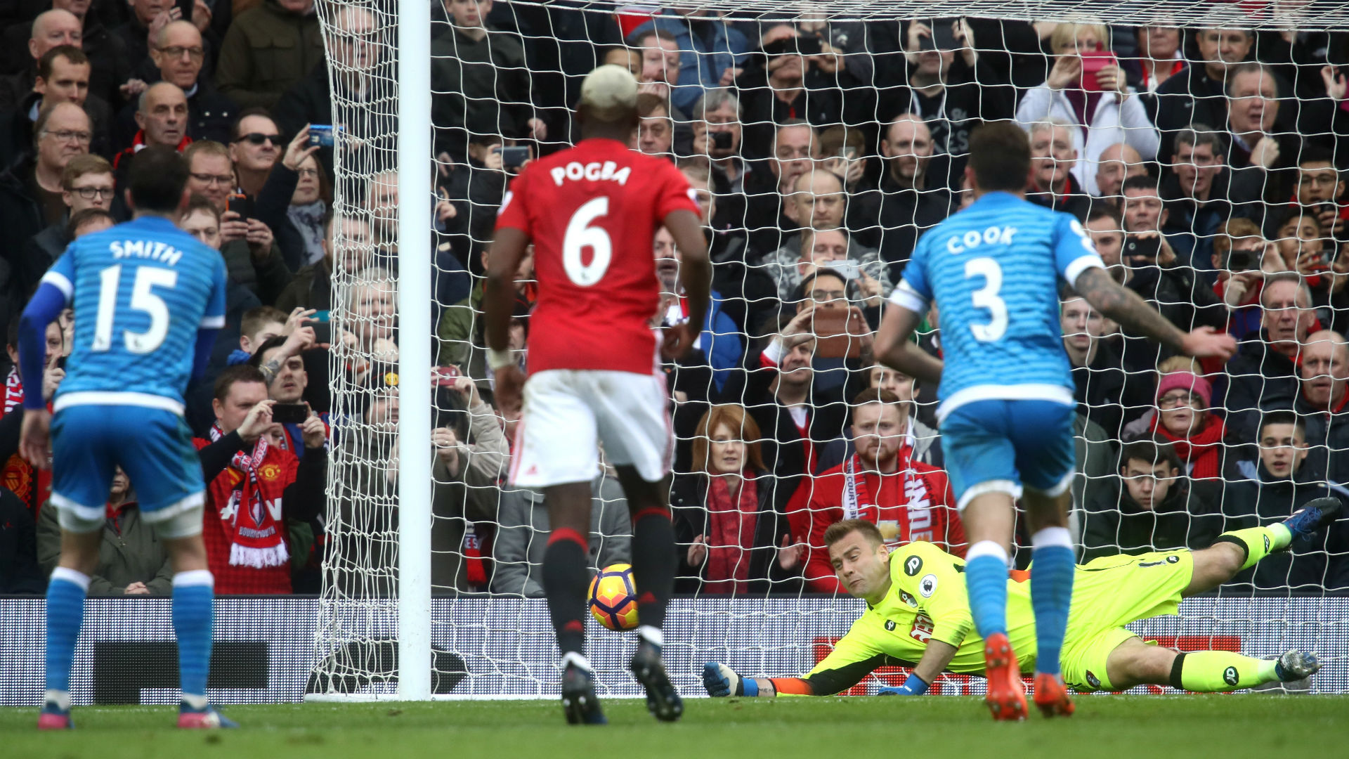 Arthur Boruc Premier League Manchester United v Bournemouth