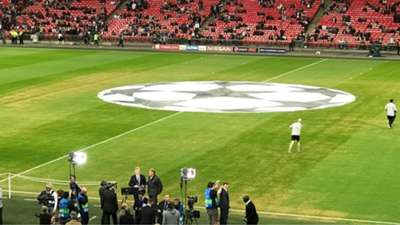 Wembley pitch Tottenham Barcelona Champions League