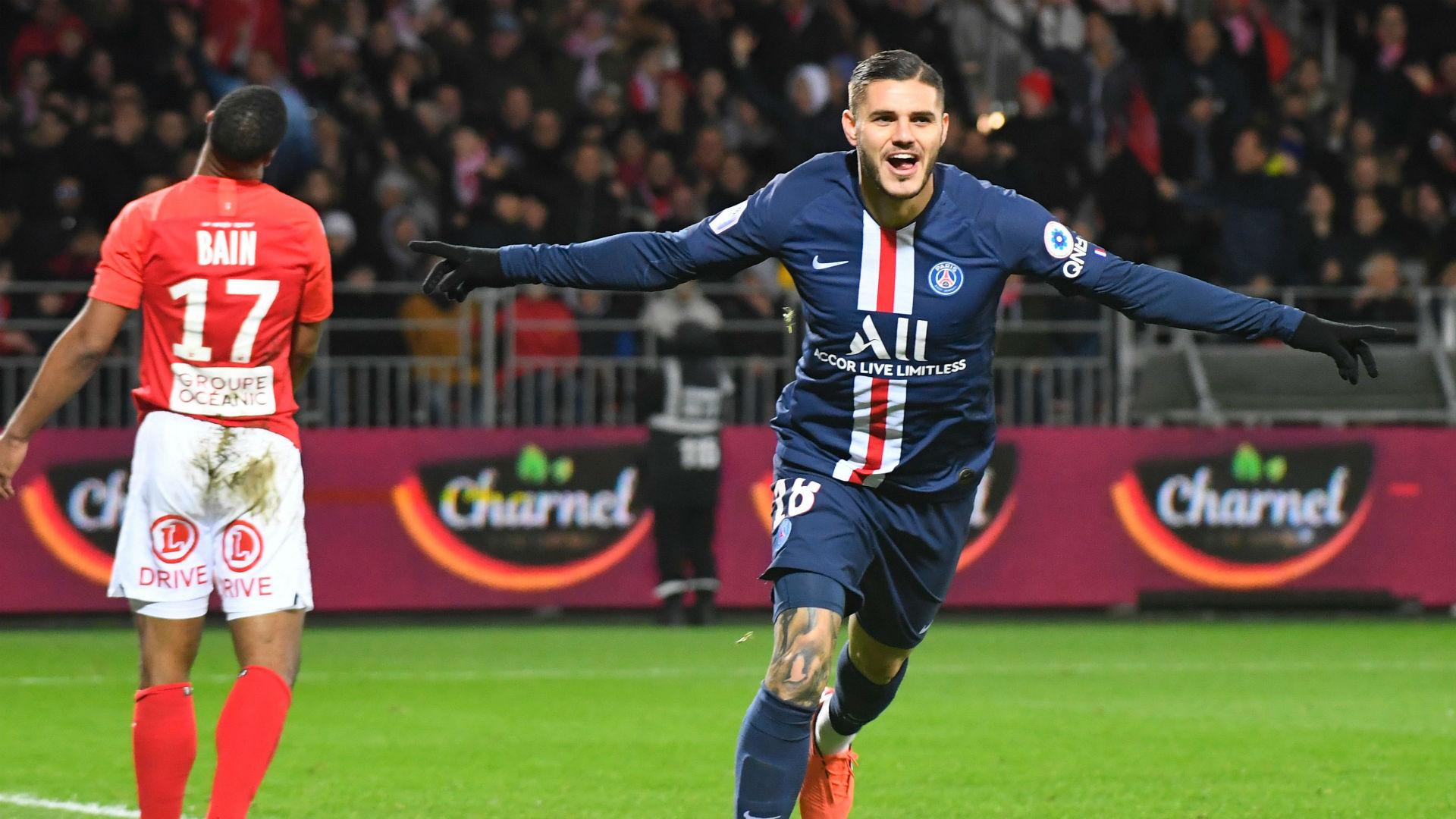 Brest Psg 1 2 Icardi Vole Encore La Vedette A Cavani Goal Com