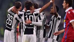 Juventus celebrating vs Spal Serie A