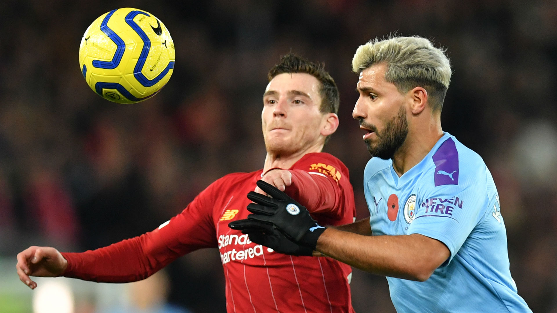 Andy Robertson Sergio Aguero Liverpool Manchester City 2019-20