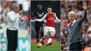 Manchester United v Arsenal split